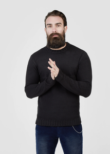 Pearly King Nevis Mohair Mix Knit Jumper in Charcoal