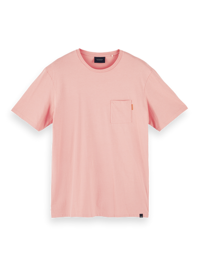 Scotch & Soda Fabric Dyed Pocket Tee in Pink Smoke | Buster McGee Daylesford