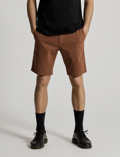 Mr Simple Standard Chino Shorts in Tobacco | Buster McGee Daylesford