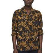 Scotch & Soda All-Over Printed Toile de Jouy Shirt Regular Fit Front Close up