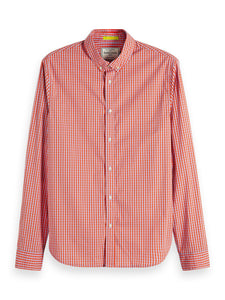 Scotch & Soda Stretch Gingham Shirt Regular Fit Combo D 0220