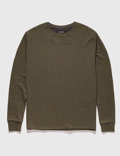 Mr Simple - Waffle Long Sleeve Tee / Fatigue | Buster McGee Daylesford