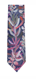 Peggy & Finn Protea Cotton Neck Tie in Navy