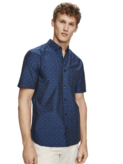 Scotch & Soda Short Sleeve Fil-Coupe Shirt Combo D