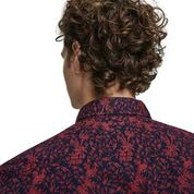 Load image into Gallery viewer, Scotch & Soda Classic All-Over Printed Shirt Regular  Fit COmbo A Rear Close up