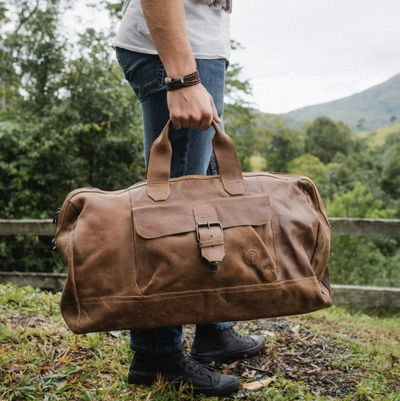 Indepal - Phileas Leather Duffle in Dusty Antique