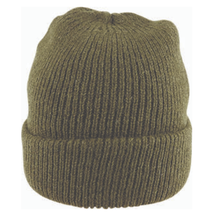 Load image into Gallery viewer, Fishermans Rib Double Knit Ragg Wool Beanie in Khaki