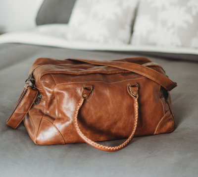 Indepal Classic Duffle - Leather Luggage Bag in Vintage Brown