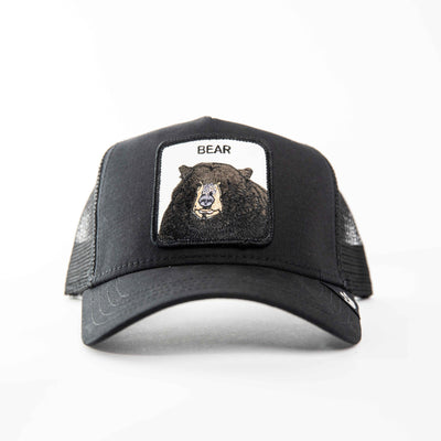 Goorin Bros - Black Bear Trucker Cap in Black | Buster McGee Daylesford