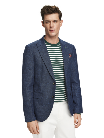 Scotch & Soda Chic Peak Lapel Blazer in Wool-Blend Quality