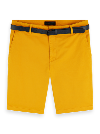 Scotch & Soda Stretch Cotton Chino Shorts in Saffron
