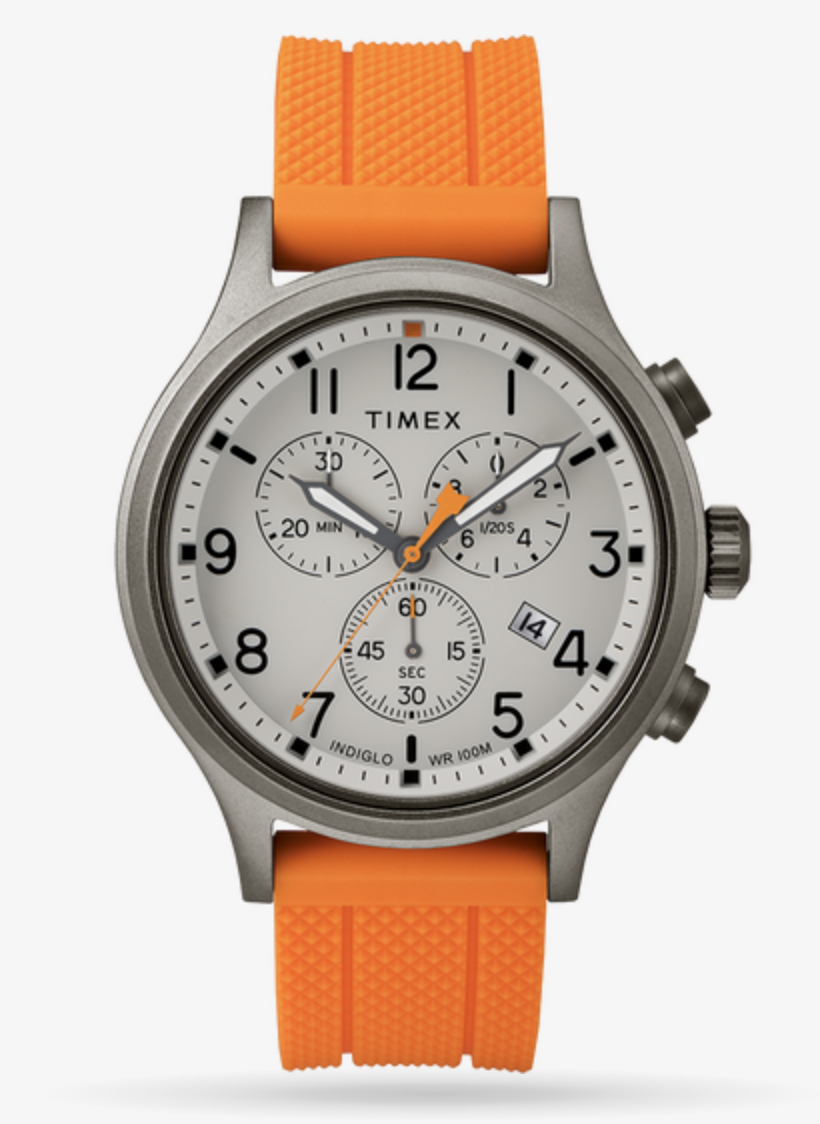 Timex Allied Chronograph 42mm Silicone Strap Watch