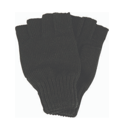 Avenel of Melbourne Fingerless Wool Gloves in Black