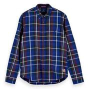 Load image into Gallery viewer, Scotch & Soda Regular Fit Shirt with Multicoloured Check 0219 Combo C