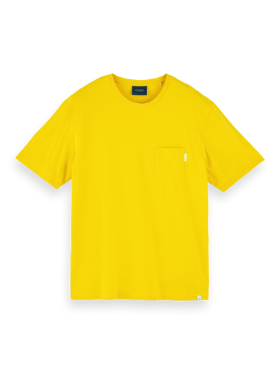 Scotch & Soda Fabric Dyed Pocket Tee in Explorer Yellow | Buster McGee Daylesford
