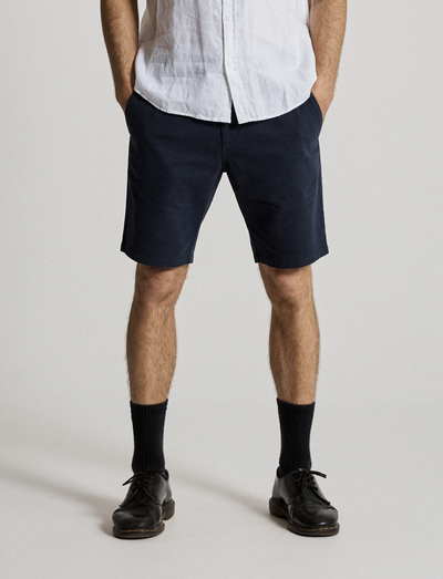 Mr Simple Standard Chino Shorts in Navy | Buster McGee Daylesford