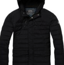 Load image into Gallery viewer, Scotch & Soda Mid Length Padded Jacket in Black 008