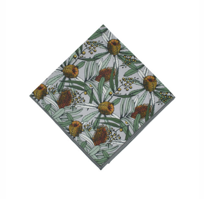 Peggy & Finn Banksia Pocket Square in Grey