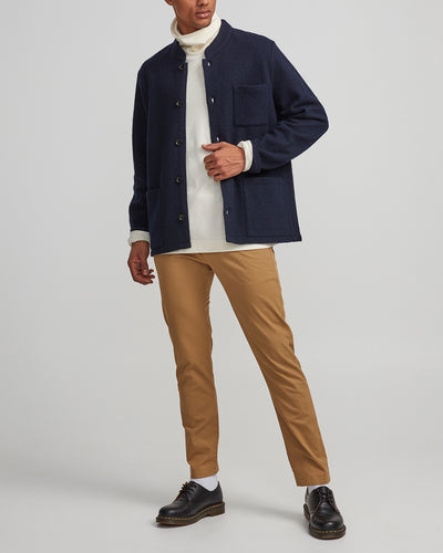 NN07 / Oswald 6359 Boiled Wool Jacket / Navy Blue