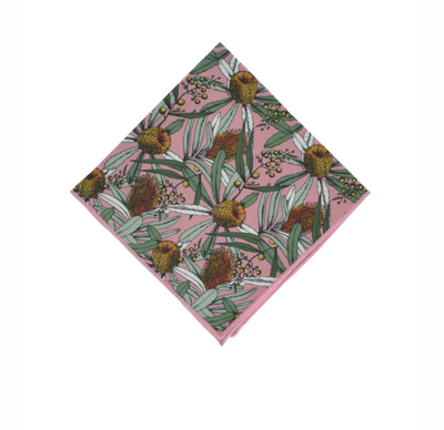Peggy & Finn Banksia Pocket Square in Pink