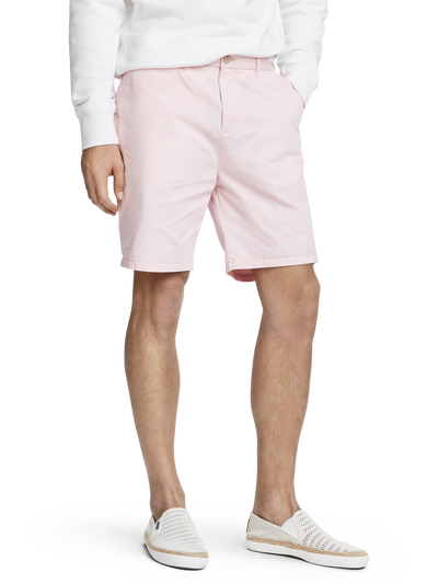 Scotch & Soda Classic Pima Cotton  Chino Shorts in Faded Pink