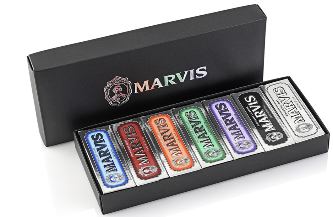 Marvis Black Black Gift Box 7 Flavours x25ml