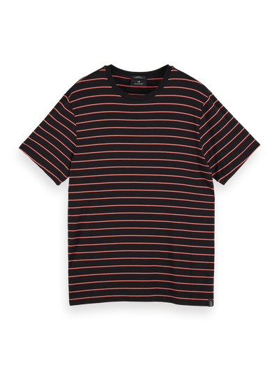 Scotch & Soda - Striped Bamboo-Blend Crewneck Tee Combo B  0218 | Buster McGee