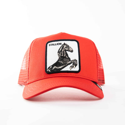 Goorin Bros - Stallion Trucker Cap in Red | Buster McGee Daylesford