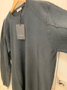 Crossley WIFTC Longsleeve Cotton Crewneck Knit in Dark Grey