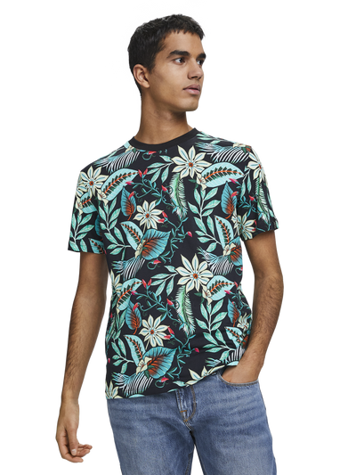 Scotch & Soda Crewneck Tee with Seasonal all-over Print Combo B