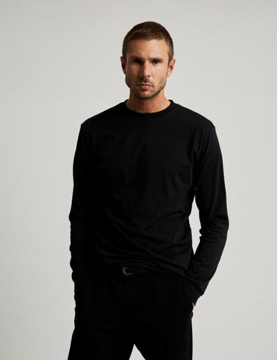 Mr Simple Fair Trade Heavy Weight Longsleeve Tee in Black