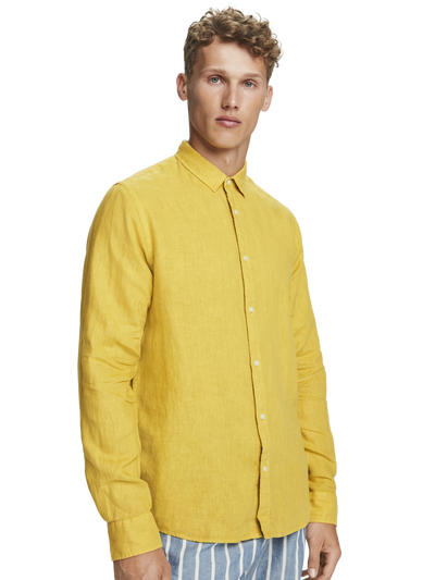Scotch & Soda Classic Linen Shirt in Saffron