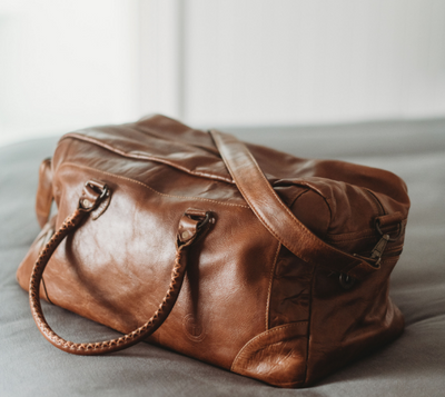 Indepal - Classic Duffle - Leather Luggage Bag in Dusty Antique