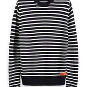 Load image into Gallery viewer, Scotch & Soda Classic Crewneck Pullover in Structured Knit Combo A 0217 Black Stripe