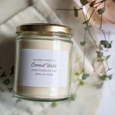 Lillydale Candle Co. Coconut Water Soy Wax Candle