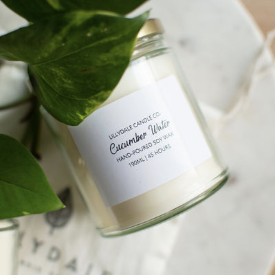 Lillydale Candle Co Cucumber Water Soy Wax Candle