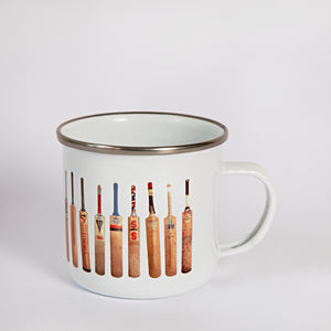 Sporting Nation Cricket Bat Line Up Enamel Mug
