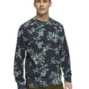Scotch & Soda Crewneck Sweater with Toile-de-Jouy Logo All-Over Print Combo A 0217