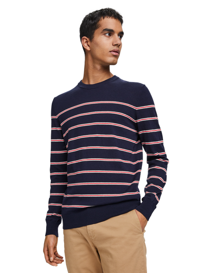 Scotch & Soda Classic Striped Pullover in Soft Cotton Combo A 0217