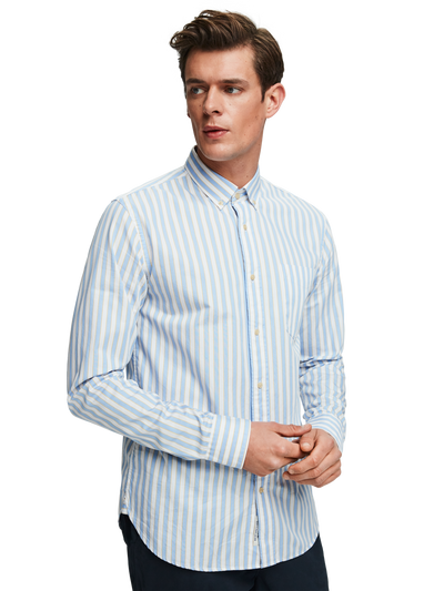 Scotch & Soda Yarn Dyed Striped Shirt Regular Fit