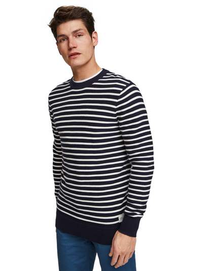 Scotch & Soda Basic Structured Stripe Pullover