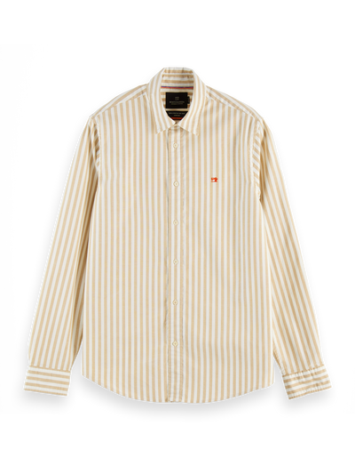 Scotch & Soda Classic Striped Oxford Shirt Regular Fit Combo B