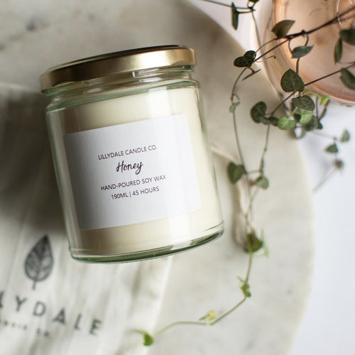 Lillydale Candle Co Honey Soy Wax Candle