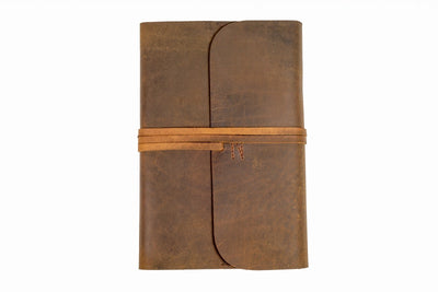 Indepal - Refillable A5 Journal in Tan Leather | Buster McGee Daylesford