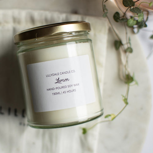 Lemon Soy Wax Candle