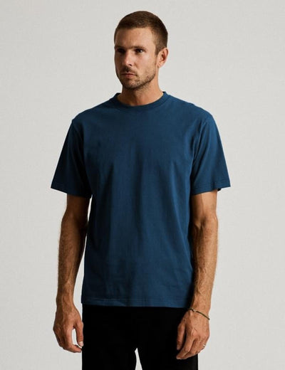 Mr Simple Fair Trade Heavy Weight Tee / Washed Indigo