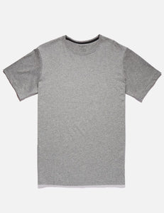 Mr Simple Reginald Tee in Grey Marle Front Flat Shot