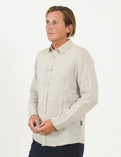 Mr Simple Linen Long Sleeve Shirt / Natural