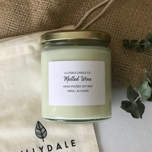 Lillydale Candle Co Mulled Wine Soy Wax Candle