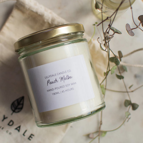 Lillydale Candle Co Peach Melba Soy Wax Candle